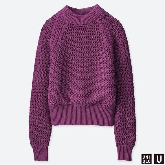 UNIQLOのメッシュオーバーサイズセーター
