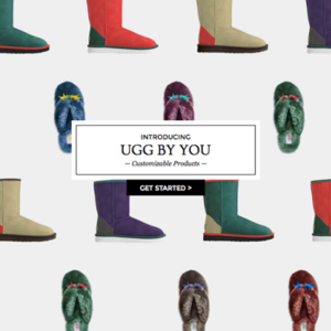 「UGG By You」で自分だけのカスタマイズUGG作りませんか?