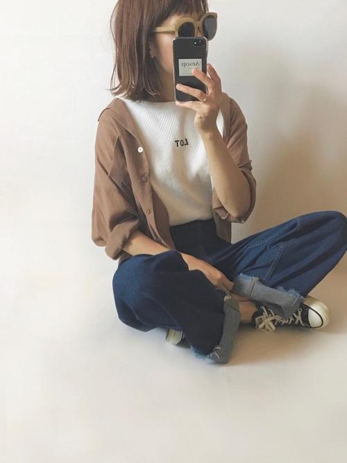 カスタネの開襟シャツ