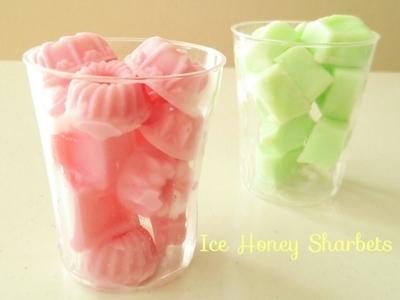 かき氷シロップで作るシャーベット
