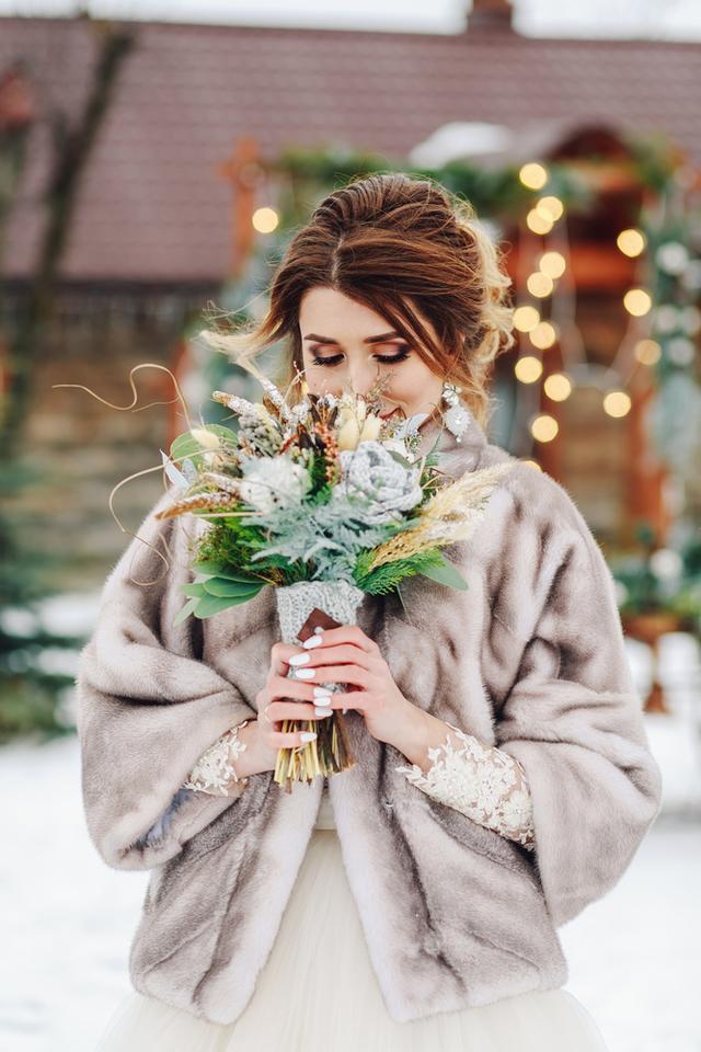 結婚式 ドレス コート ブーケ