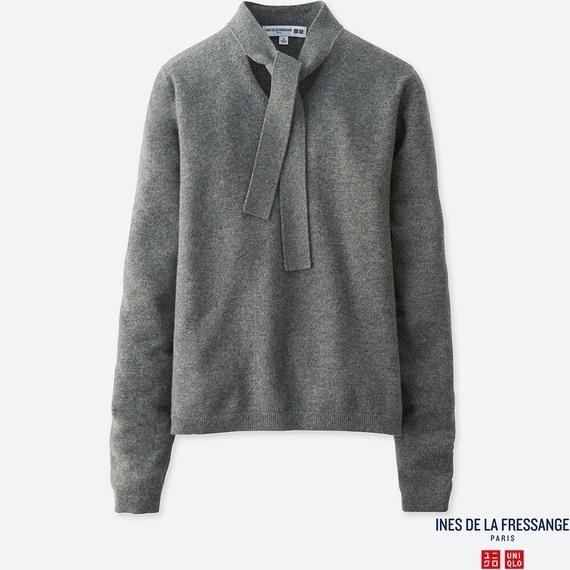 ユニクロのカシミヤリボンタイセーター