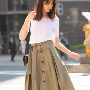 2018秋もフロントボタンスカートに注目♡大人可愛いコーデ集