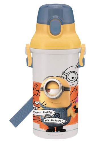 スケーター 直飲み 水筒 プラワンタッチ ボトル 480ml ミニオンズ