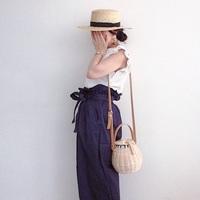 """スタイルアップ確実!""""ハイウエスト""""夏の着こなしお手本コーデ♡"""