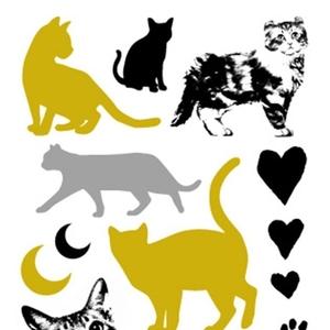 猫好きにはたまらない♪可愛いデザインの猫タトゥーシール4選