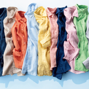 『UNIQLO』のプレミアムリネンシャツでおしゃれな夏コーデ♡