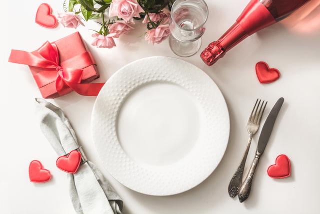 バレンタイン テーブルコーディネート