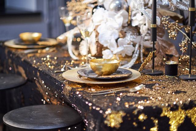 ゴールド テーブルコーディネート