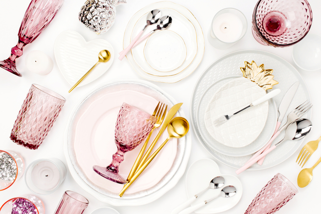 ピンク テーブルコーディネート