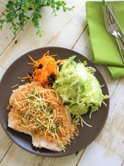 サラダチキンのチキンカツレシピ