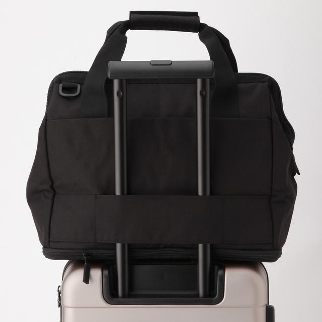 無印良品の荷物の量で広げられる 撥水 ボストンバッグ 黒