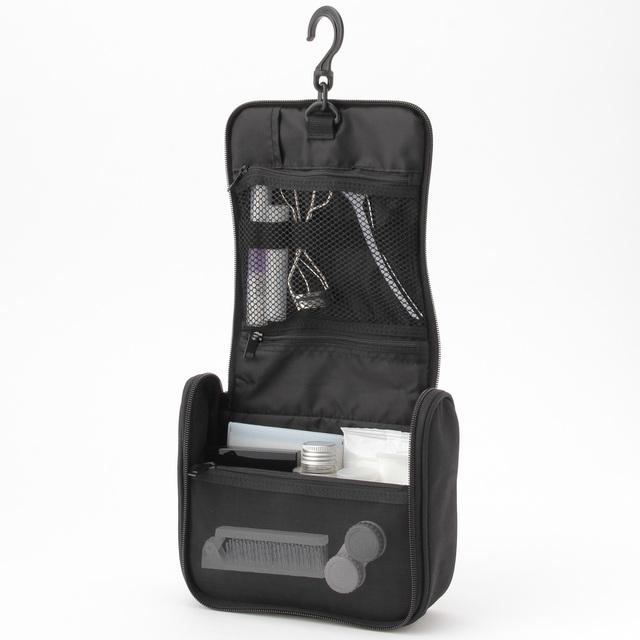 無印良品のポリエステル吊して使える洗面用具ケース 黒