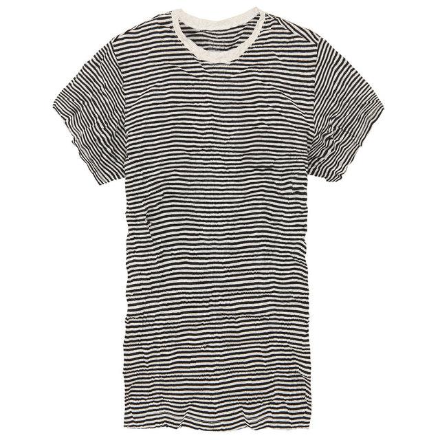 無印良品のオーガニックコットン圧縮ボーダーTシャツ