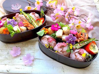 桜のおにぎりお弁当レシピ
