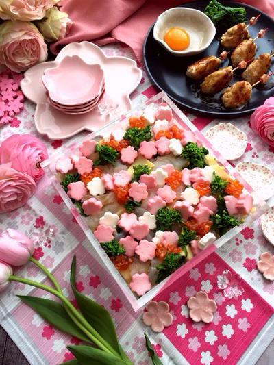 春野菜のちらし寿司のレシピ
