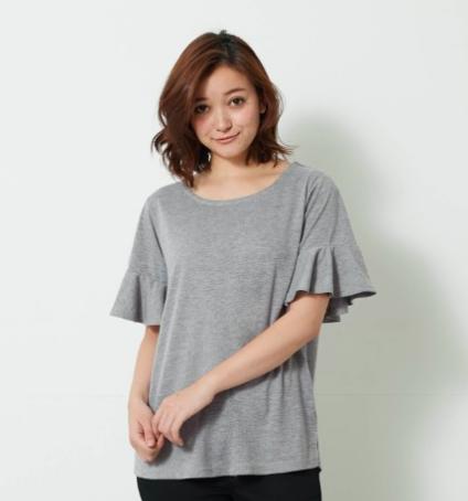 フレア袖の汗ジミ対策Tシャツ