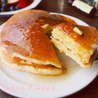 もちもちフワフワで絶品♡お正月のお餅の残りで作るパンケーキレシピ