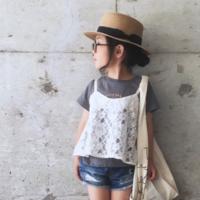 視線を独り占め♡夏のキッズコーデは「カンカン帽」がおしゃれ!
