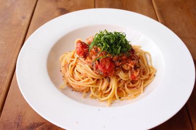 サバ缶のトマトパスタ