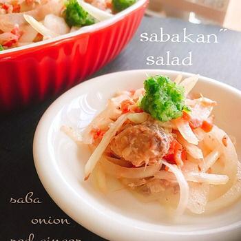 サバ缶紅生姜サラダ