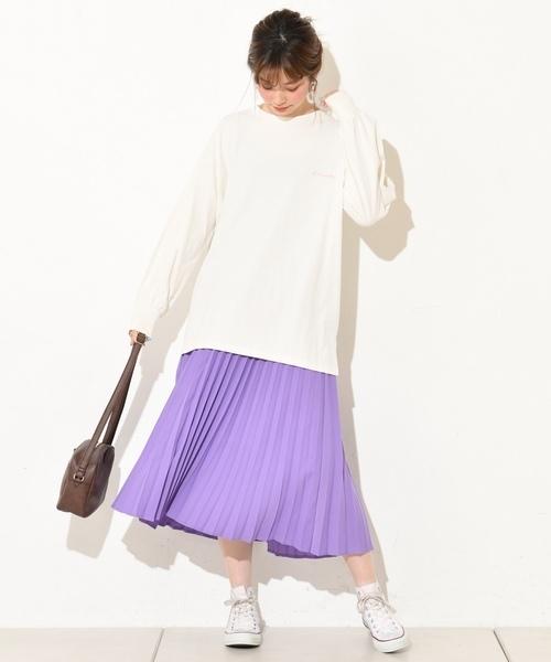 natural coutureのジョーゼットプリーツスカート