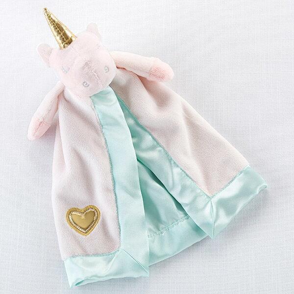 ユニコーンのぬいぐるみ付き安心毛布