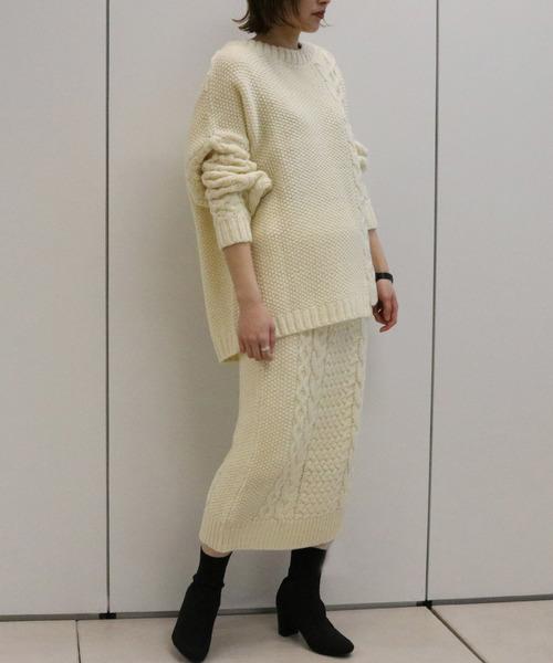 ケーブル編みのセットアップ