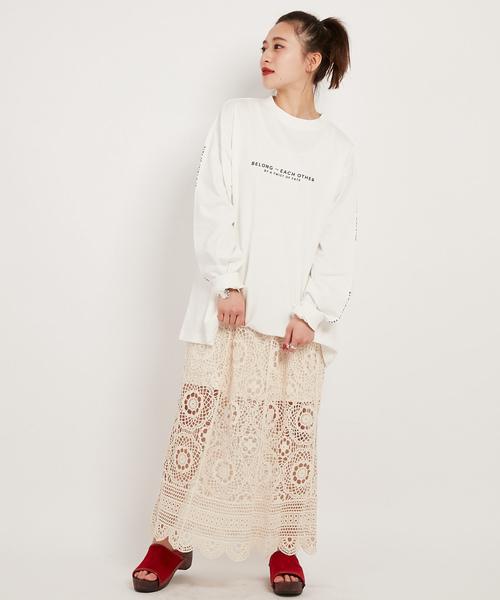 CIAOPANICのかぎ針編み風レーススカート