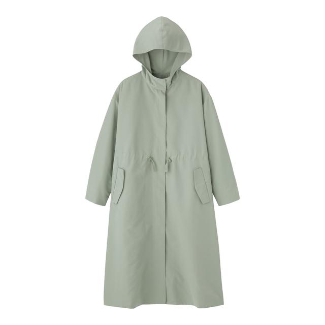 GUのドローストリングフーデッドコート