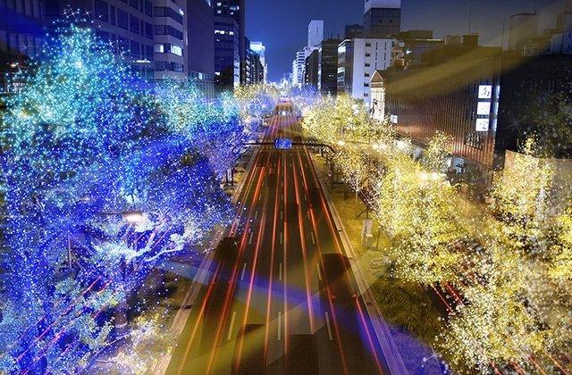 大阪、御堂筋のイルミネーション