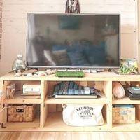 オーダーメード家具みたい♡木材のテレビ台DIYがおしゃれすぎる!