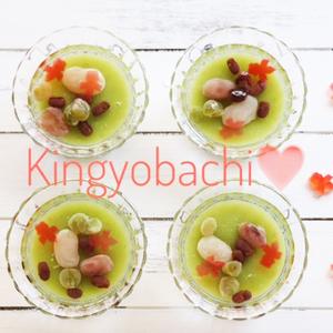 まるで金魚鉢♡小さな抜き型で作る夏のおもてなしデザートレシピ
